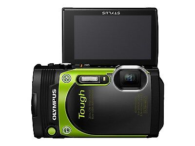 "Olympus TG-870 Tough 3"" LCD 16MP BSI CMOS 5x Waterproof Digital Camera - Green"