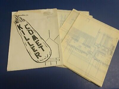 Killer Comet by Game Plan Video Arcade Game Instruction Manual & Schematics