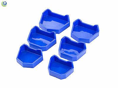 Dental Model Lab Base Former Molds For Stone Tray Loading Assorted Set Of 6