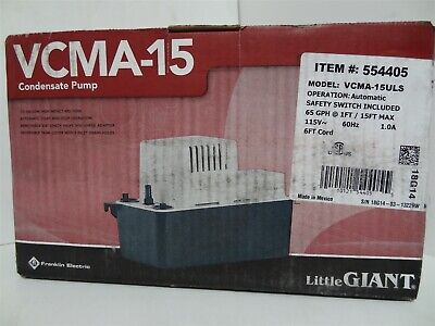 Little Giant Vcma-15uls Automatic Condensate Removal Pump Wsafety Switch 150hp