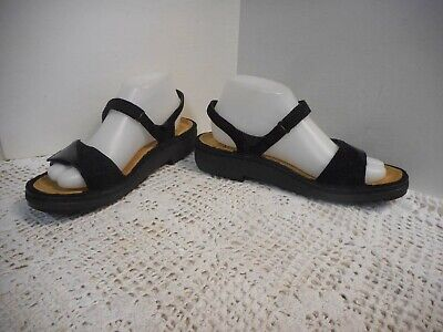 New Black Leather Women Sandals - NWOT Naot black leather/patent leather SANDALS Women 39/8M NEW