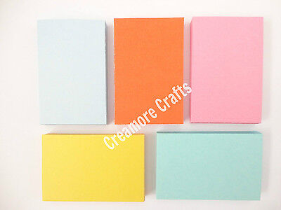250 Blank Flash Cards  - 5 Colours - Plain Index Revision Notes Early Learning
