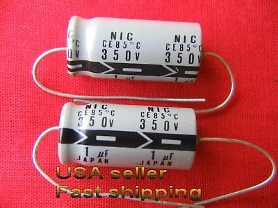 3 Pcs - 1.0uf 1uf 350v Axial 85c Electrolytic Capacitors Free Shipping