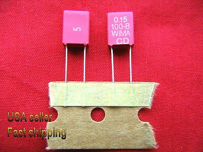 3 Pc - .15uf 0.15uf 100v Wima Metalized Poly Film Capacitors Free Shippingrd