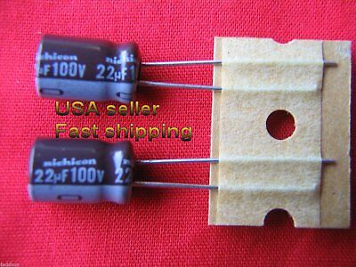 4 Pcs  -  22uf 100v  Electrolytic Capacitors Free Shipping