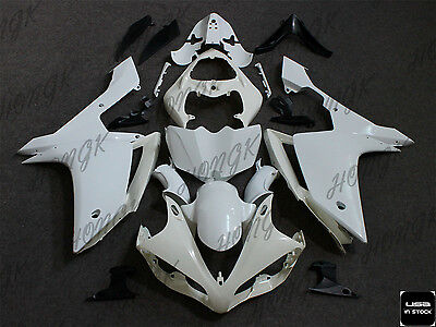 Unpainted Injection ABS Body work Fairing Set Kit For YAMAHA YZF R1 2007-2008 07