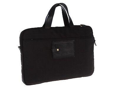 - Fossil Atlas Top Zip Nylon Canvas Portfolio BLACK Bag brief case MBG9173001, NWT