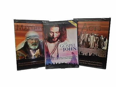The Visual Bible Set (The Book of Matthew, John and Acts) Complete DVD Set