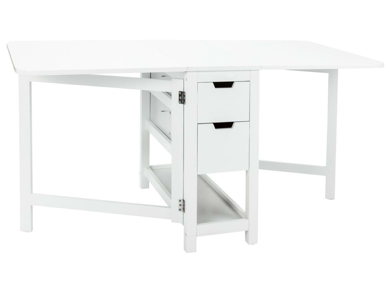 Klapptisch Tisch Ablage 4 Schubladen 2 klappbare Platten LIVARNO LIVING B-Ware
