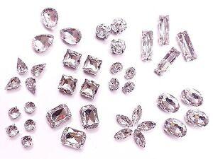 Acrylic-CLEAR-Sew-on-MONTEES-Crystals-Rhinestones-Diamantes-Dress-Making