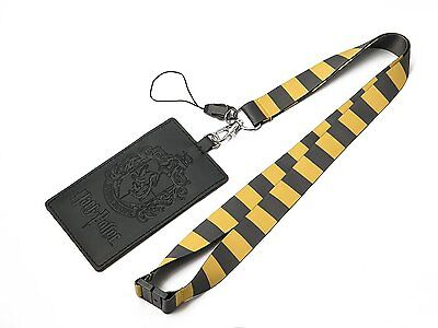 Official Harry Potter Hufflepuff School Crest Lanyard Sticker ID Holder