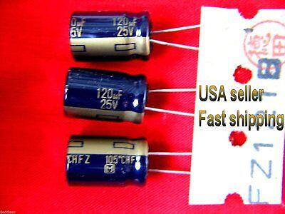 4 Pcs - 120uf 25v Panasonic Electrolytic Cap Long Life Low Esr Free Shipping
