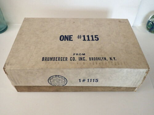 Vintage BRUMBERGER STEREO SLIDE STEEL CASE No 1115 Mint Unopened NEW OLD STOCK