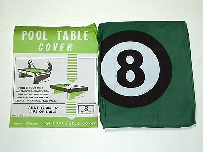 POOL TABLE COVER TO FIT 8FT TABLE WITH 8 BALL DESIGN