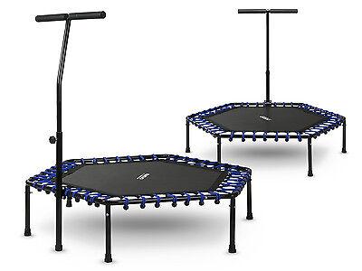 Sechseckiges Fitness Trampolin Indoor Sportgerät Jumping mit dem Griff Neo Sport