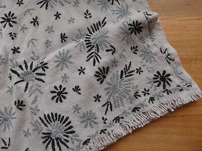 Khadi and Co Bess Nielsen Paris Grey Beige Wool Floral Scarf RRP$450+
