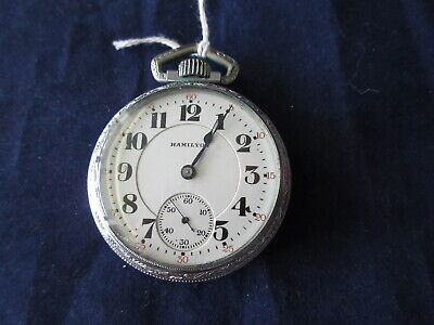 HIGH GRADE ANTIQUE HAMILTON 992 21 JEWEL RAILROAD GRADE POCKET WATCH