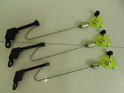 3 x Yellow / Lime Drop off Bite Indicators. Carp / Coarse Fishing. Slider Weight