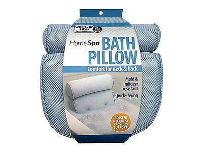 Bath Spa Pillow Mollify Neck Back Support Foam Comfort Bathtub Tub w/Suction Cup