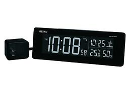 Seiko CLOCK clock exchange type color LCD digital radio alarm clock black JAPAN