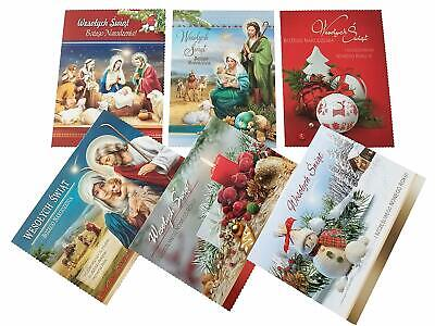Set of 6 Traditional Polish Christmas Greeting Cards with Envelopes ()