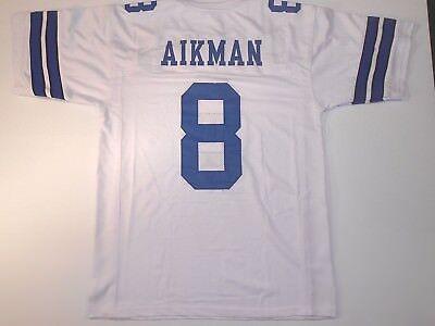 a58fc6f74c4 UNSIGNED CUSTOM Sewn Stitched Troy Aikman White Jersey - 3XL