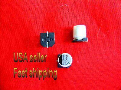 25 Pcs  -  68uf 35v  Smd Electrolytic Capacitors Free Shipping