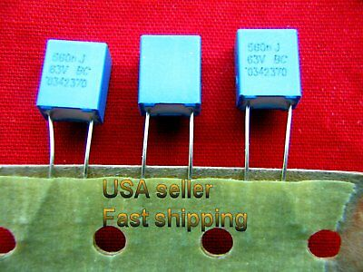 3pc - .56uf 0.56uf 560nf 63v 5 Polyester Film Capacitors Free Shipping