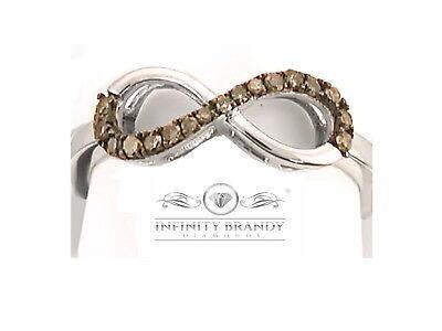 Infinity Brandy Diamonds® 10K White Gold Chocolate Brown Forever Love Me Ring