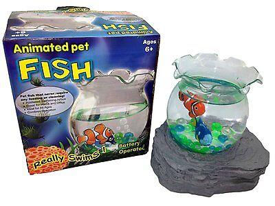Battery Operated Magic Fake Fish Bowl Aquarium Magnetic Animated Swimming 2 FISH (Magic Fish Bowl)