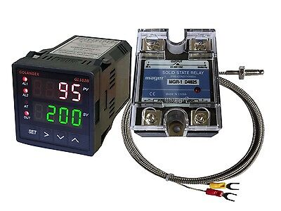 12v Dc Digital Pid Fc Temperature Controller K Thermocouple 25a Ssr
