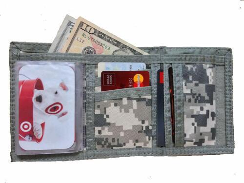 Camo Wallet Tri-Fold Digital ACU Army Military Money Cash ID Holder Bill Fold