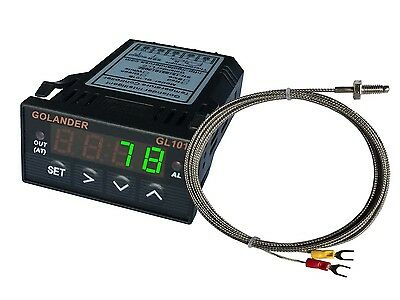 12v Dc 132din Digital Pid Temperature Controller Green With K Thermocouple