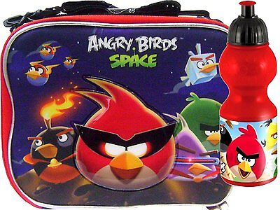 Angry Birds & Friends Insulated Lunch Box Bag + 15 oz Water Bottle by Rovio-New!