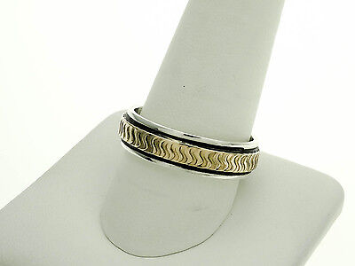 Southwestern Style Golden Bear Vall Sterling Silver and 14k Band Ring (Fashion Vall)