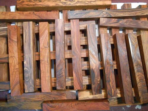 "10 cocobolo rosewood turning squares 1.5 x 1.5 x 18"" long, kiln dried, figured"