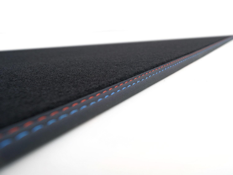 Kofferraummatte passend für BMW E39 5er Touring Laderaummatte Naht rot blau+NEU