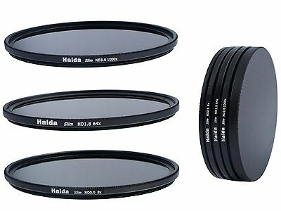 Haida Slim ND Graufilterset ND8x, ND64x, ND1000x -  77mm + Stack Cap