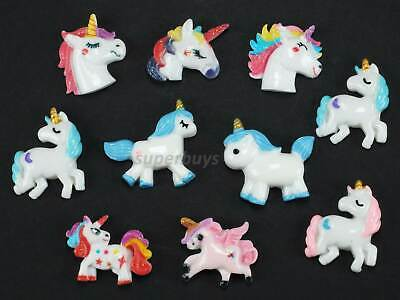 10pcs Unicorn Figurine For Cake Decoration Topper Figure Toy Decorate PVC Set