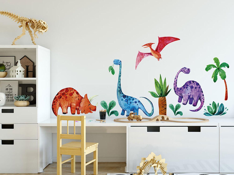 Wandtattoo Kinderzimmer Dinosaurier Dino Urwald