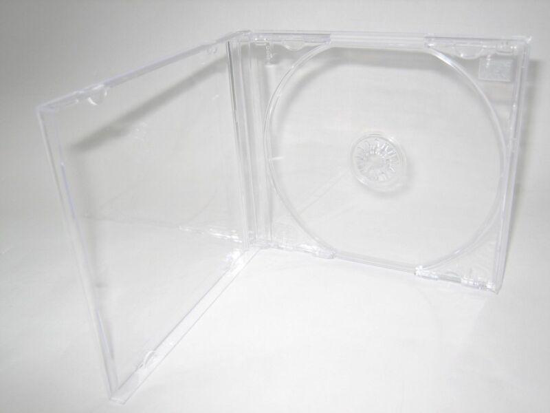 50 TOP QUALITY 10.4MM STANDARD SINGLE CD JEWEL CASES W CLEAR TRAY KC04PK-CDA
