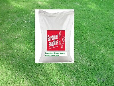 20kg Grass Seed Shady Premium Hard Wearing Lawn Garden Seed Certified No Rye