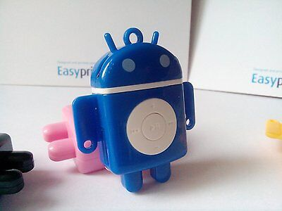 Mini Android MP3 player in BLUE TF card slot bundled accessories