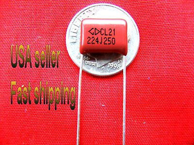 4pc - .22uf 250v 0.22uf 220nf Metalized Film Capacitors Rd Free Shipping