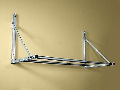 Silver Folding Tire Loft Garage Wall Mount Hanging Wheel Storage Rack Steel New