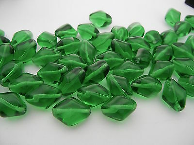 40 Preciosa Czech Glass Beads 17x13mm Peridot green, zz 64