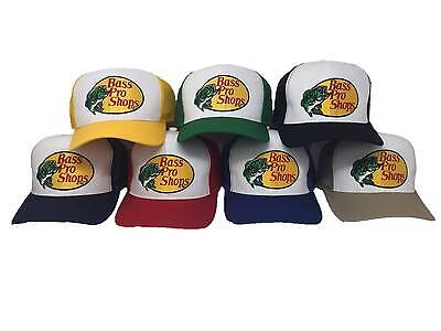Bass Pro Shops Hat Embroidered  Logo Mesh Fishing Hunting Trucker Cap Snapback