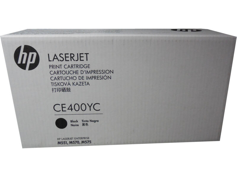 HP CE400YC CE400X 507X High Yield Black Toner Cartridge Genuine OEM