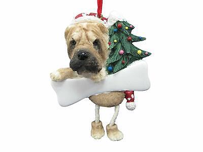 SHAR PEI --Dangling Legs Dog Christmas Ornament by E&S Pets