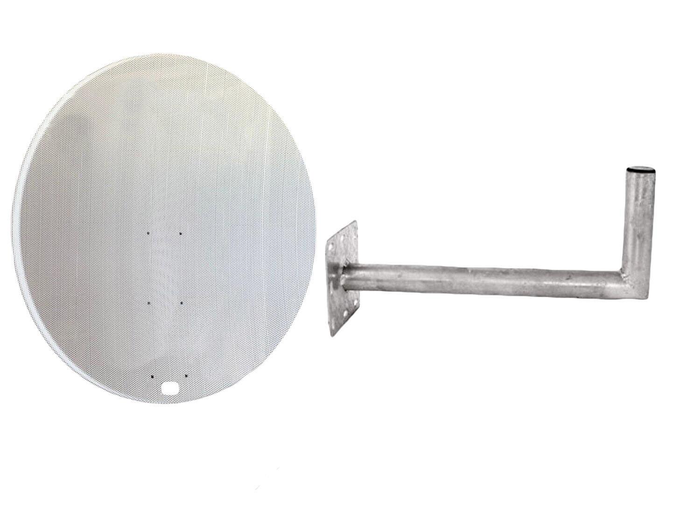 Universal 120CM Netz Satellitenschüssel Mit Wandhalterung Für Freeview, Hotbird